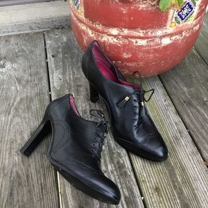 Banana Republic black oxford dressy heels